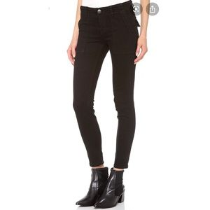 Current/Elliott combat stiletto black skinny jean